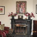 The fireplace in common lounge