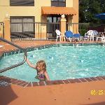  my daughter in the pool
