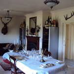 Dining Room in the country style villa