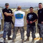Our troops in Afghanistan with Russell's tees
