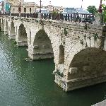 Here is the ROMAN BRIDGE the hotel is named for
