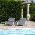 Relax by our peaceful heated pool