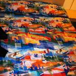  Crazy comforter made this place unique