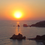 Sunset view over Aphrodite's rock