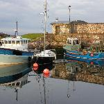 Carnlough harbour opposite the hotel