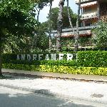 Outisde the Hotel Andreaneri