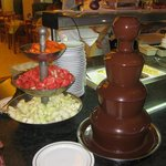Chocolate Fountain in the main restaurant