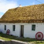 Thatched roof cottage on Inishere (Aran Islands in Galway Bay)