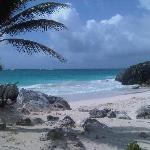 The amazing beach at the Mayan Ruins :)