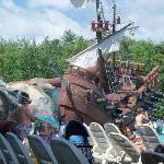 Pirate ship with pool