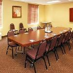 Our meeting facility can accommodate small functions and offers seating for 12-15 people.