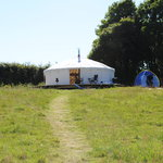 View of a yurt
