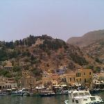 Symi town from the ship