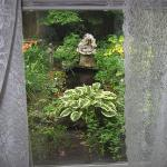 Here is the view outside our bedroom, what a cute pond.