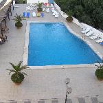 View from room of the pool on the upper level