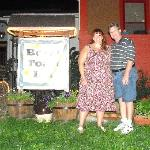 My husband & I outside the inn