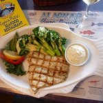 Grilled halibut filet at Captain Patties