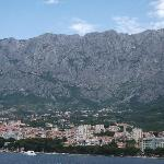 Makarska 'main drag' along the bay