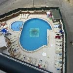 The pool - from 6 floors up.