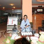 Traditional coffee being served in the lobby