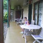  verandah outside motel room