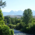  View from my balcony of Salmon River &amp; distant mountains