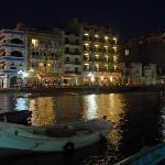 Xlendi waterfront at night