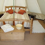  Inside One Of The Bell Tents