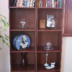  Bookshelf in the dining area