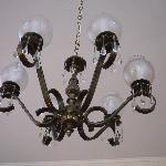 Chandelier in the dining area