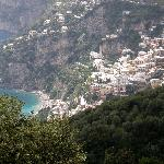 View from the restaurant our driver took us to in Amalfi.