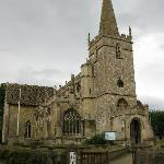  Lacock Church - approach the Pottery by the gravel lane at the left