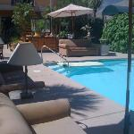 Gotta love the sofas by the pool!