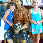  The kids with the pirate in the lobby!