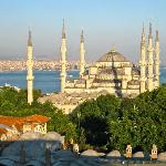 View of Blue Mosque from the Rooftop Restaurant