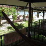 View from our private balcony area with hammock