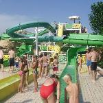  waterslides in pool area