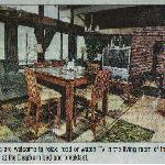 Dining room as pictured in newspaper article