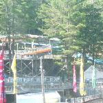 Another view of waterpark from restaurant table