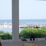 View of the beach from our Main Room