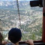 looking out of the tram car