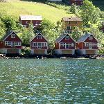 The cabins seen from the boat