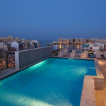 Rooftop sun deck and swimming pool - Hotel Juliani, Small Elegant Hotels, St. Julians, Malta
