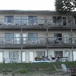 Motel from backside.  This side of Motel faces Lake Michigan.