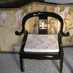 Beautiful mother-of-pearl inlay chair -Geisha room