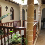  The riad&#39;s courtyard