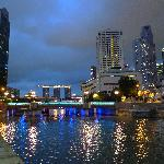 Looking east along Singapore river...
