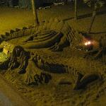  Sand sculpture, torremolinos beach