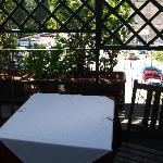 Terrasse de la chambre o est servi le petit dejeuner