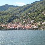 approaching cannero from luino on the ferry